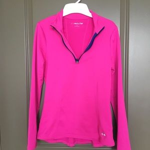 Hot Pink Half Zip Pullover, Size Small